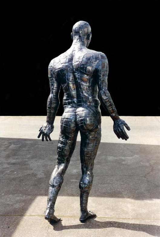 Naked Man, steel man, flamingsteel.com, roy mackey, steel art, steel sculpture, strange websites, vancouver bc