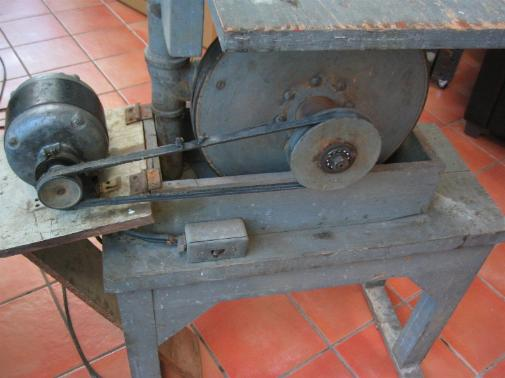 vintage hand made band saw, vintage tools, steel sculpture, steel art, flamingsteel.com, roy mackey, vancouver bc