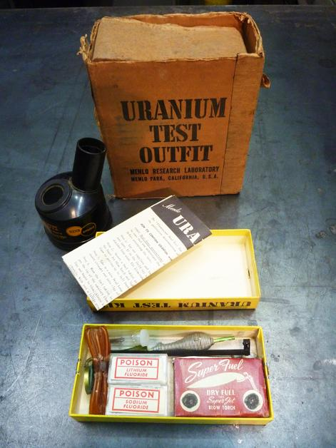 Uranium Test Kit, flamingsteel.com, steel sculpture, steel art, roy mackey