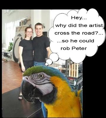why did the artist cross the street, flamingsteel.com