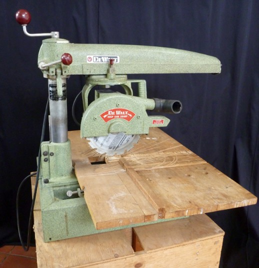 Vintage dewalt radial arm saw, flamingsteel.com, roy mackey, steel sculpture, steel art, New York Times,