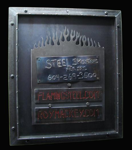 door series, roy mackey, steel sculpture, steel art, flamingsteel.com
