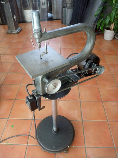 Walker Turner scroll saw, the driver line, flamingsteel.com, roy mackey, steel sculpture, steel art, New York Times