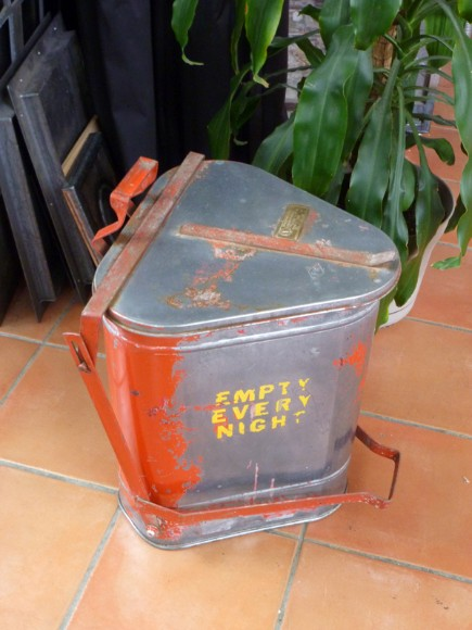 fireproof garbage can, flamingsteel.com, roy mackey, steel art, steel sculpture, live work studio, the ultimate man cave