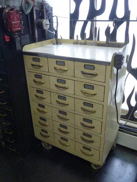 vintage cardfile cabinet, flamingsteel.com, roy mackey, steel sculpture