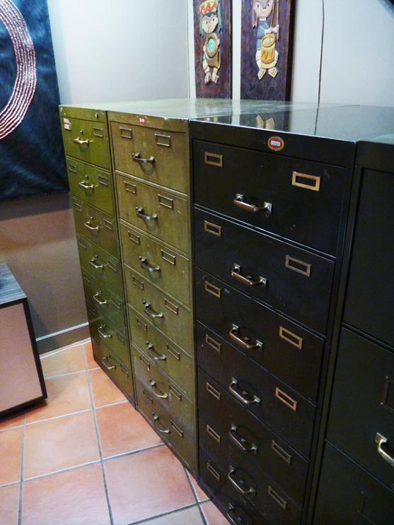 vintage card file cabinets, flamingsteel.com, steel sculpture, roy mackey