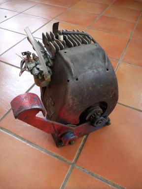 Vintage Doodlebug scooter engine,
