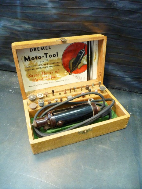 Vintage dremel moto-tool, flamingsteel.com, roy mackey, steel sculpture