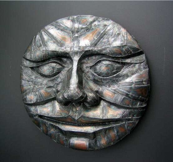 New Moon, flamingsteel.com, roy mackey, steel sculpture, steel art