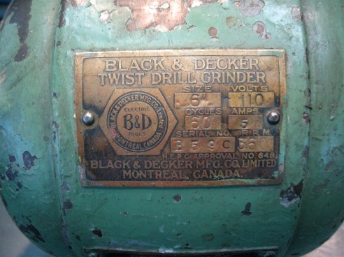 Vintage black and decker bench grinder flamingsteel.com