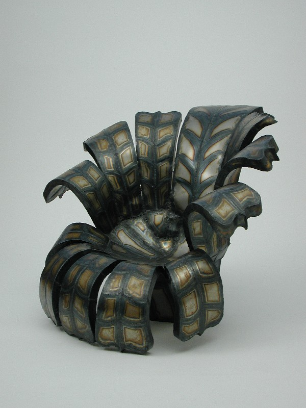 Flower Chair steel sculpture by Roy Mackey
