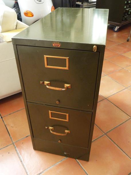 vintage file cabinet, flamingsteel.com, steel sculpture, roy mackey