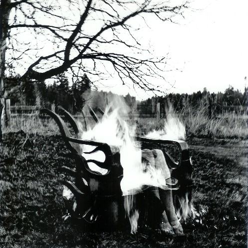 Flame Chair on Fire photo by Ken Flett