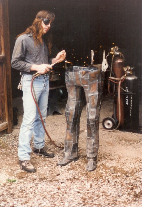 Steel legs, roy mackey, flamingsteel.com, steel art, steel sculpture, New York Times