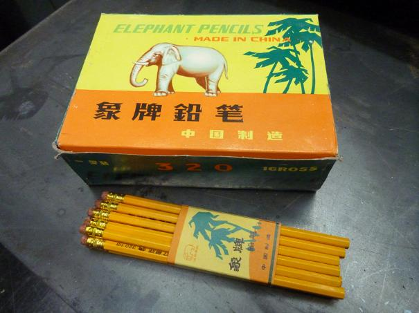 vintage elephant brand pencils, flamingsteel.com, steel sculpture, steel art, roy mackey