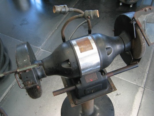 Vintage Sioux bench grinder flamingsteel.com